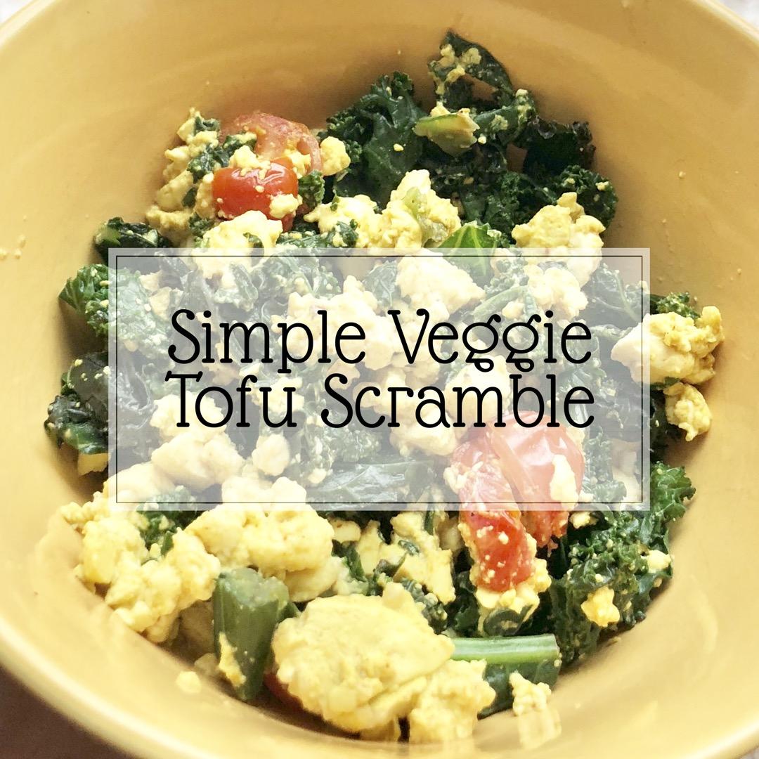 Simple Veggie Tofu Scramble