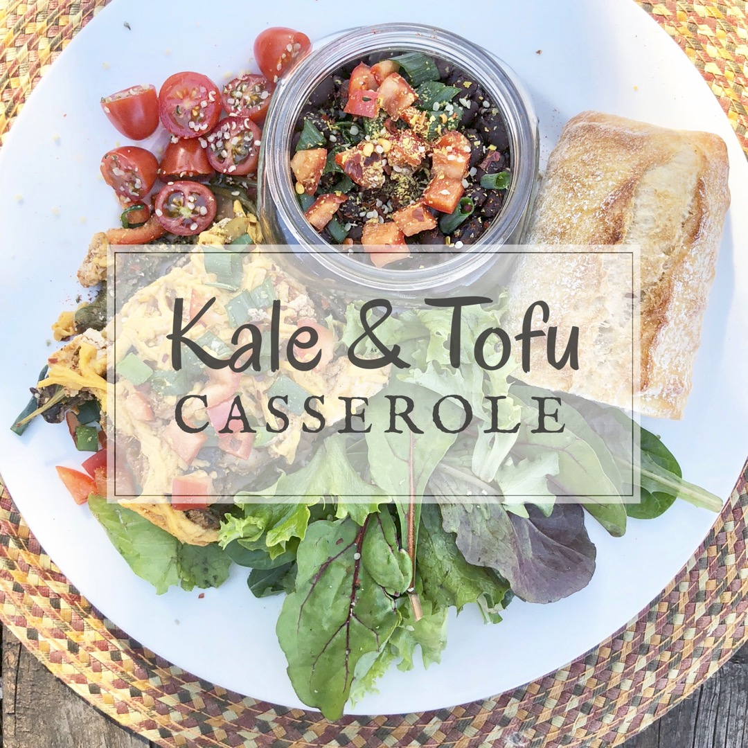 Kale & Mushroom Layered Casserole