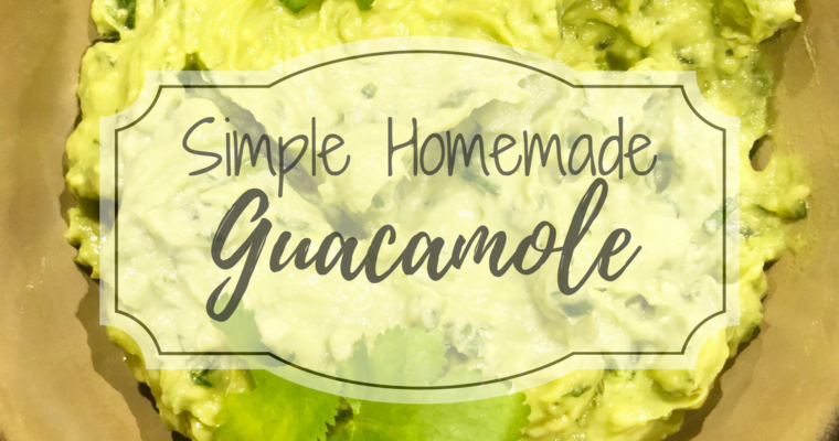 Simple Homemade Guacamole