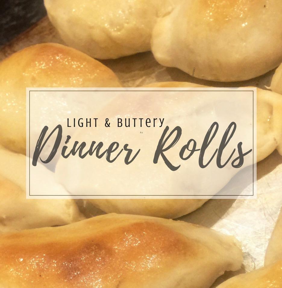 1 Hour Light & Buttery Dinner Rolls