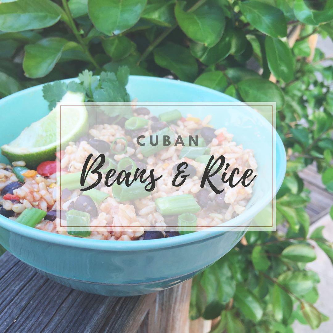 Cuban Beans & Rice